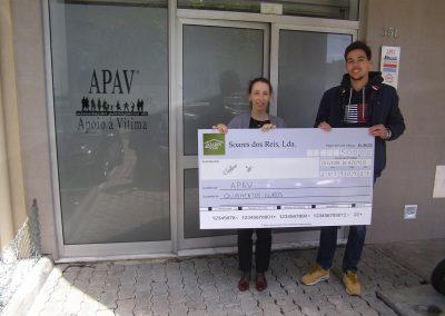 Cerimónia de entrega de donativo à APAV